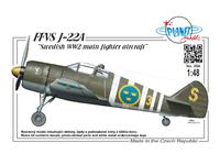 "FFVS J-22A ""Swedish WWII main fighter aircraft"" 1/48"