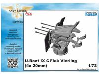 1/72 U-Boot IX Flak-Vierling Conversion, for Revell kit