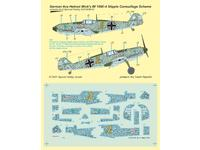 Bf 109E-4 German Ace H. Wick Decal Motley Camo