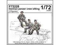 German panzer crew sitting (3 fig.)