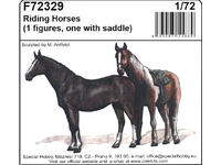 1/72 Riding Horses (2 figures, one with a saddle)
