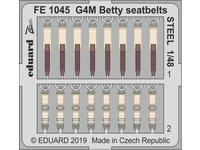 G4M Betty seatbelts STEEL 1/48