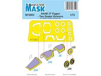 SAAB 37 Viggen Two Seater Mask
