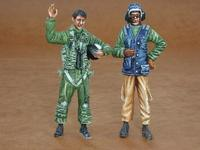 US Navy modern pilot and mechanic (2 fig.)