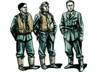 Barracuda Crew Members - Standing (3 fig.)