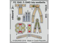 F-104G late seatbelts STEEL 1/48