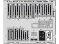 M113A ACAV dashboard & seatbelts STEEL 1/35