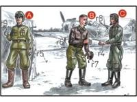 Soviet Pilots (2 fig.) And Mechanic WW II