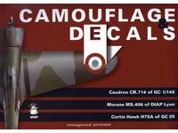Camouflage and Decals Caudron CR.714; Morane Ms.406;Curtiss Hawk H75A 1/32