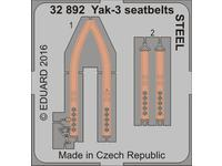 Yak-3 seatbelts STEEL