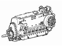 DB 601A/B - German engine for Bf-109E3/4