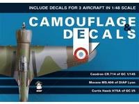 Camouflage and Decals Caudron CR.714; Morane Ms.406;Curtiss Hawk H75A 1/48