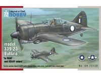"Buffalo model 339-23 "" In RAAF and USAAF colors"" 1/72"