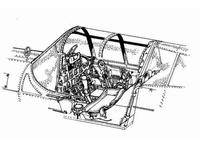 P-40 E - interior set for ACA