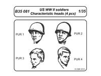 US WWII soldiers - character.heads 4 pcs