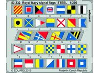Royal Navy signal flags STEEL  1/200