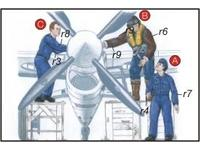 Royal Navy Pilots (2 fig.) And Mechanic WW II