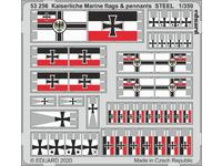 Kaiserlische Marine flags & pennants STEEL 1/350