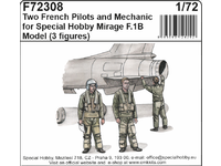 Two French Pilots and Mechanic for Special Hobby Mirage F.IB Model
