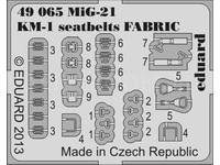 MiG-21 KM-1 seatbelts FABRIC