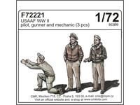 USAAF WWII pilot,gunner and mechanic (3 fig)