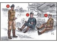 German Bomber Pilots (3 fig.) WW II