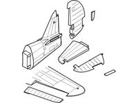 P-40E Warhawk - control surfaces set for HAS