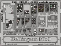 Wellington Mk.I cockpit interior