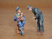German pilot + mechanic WWII (2 fig.)