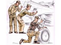 US Army machanics WW II (3 fig.)