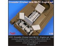 Crusader(Cruiser tank Mk.IV) engine set for I