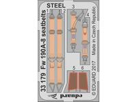 Fw 190A-8 seatbelts STEEL  1/32