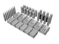 1/72 U-Boot VII-IX Ammo and Food Supplies, for Revell kit