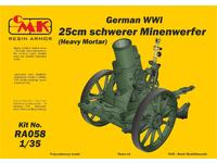 1/35 German WWI 25cm schwerer Minenwerfer / Heavy Mortar– All Resin kit