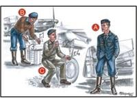 French Mechanics (2 fig.) And Pilot WW II