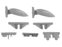 Blenheim Mk.I/II Finish AF 1st serie Ski Undercarriage – fixed type