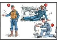 RAF Mechanics (2 fig.) And Pilot WW II