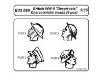 British WWII Desert rats-character.heads 4pcs