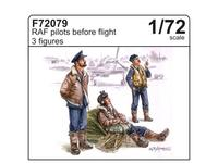 RAF pilots before flight (3 fig.)