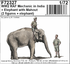WWII RAF Mechanic in India + Elephant with Mahout (2 fig. + elephant) in 1/72 - 1/7