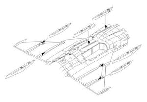 JAS-39C Gripen – Correction Wing racks