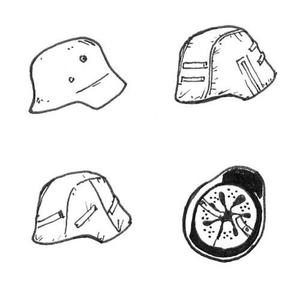 German WWII Helmets 6 pcs
