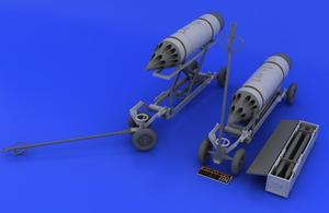 Rocket launcher B-8M1 and loading cart