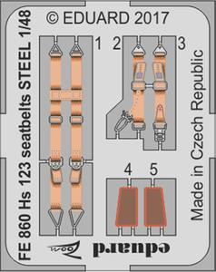 Hs 123 seatbelts STEEL 1/48
