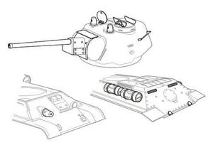 T-34/76 model 1943 type UZTM – conv. set for