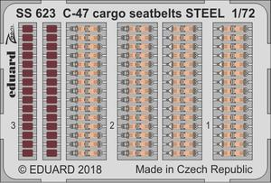 C-47 cargo seatbelts STEEL  1/72