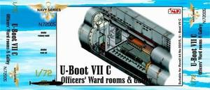 U-Boot VII Officers' Ward rooms & Galley for