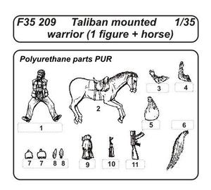 Taliban mounted warrior (1 fig.+ horse)