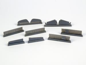 1/72 P-40 - Control Surfaces for Special Hobby kits  - 1