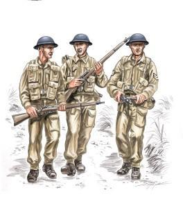 British soldiers WW II (3 fig.)